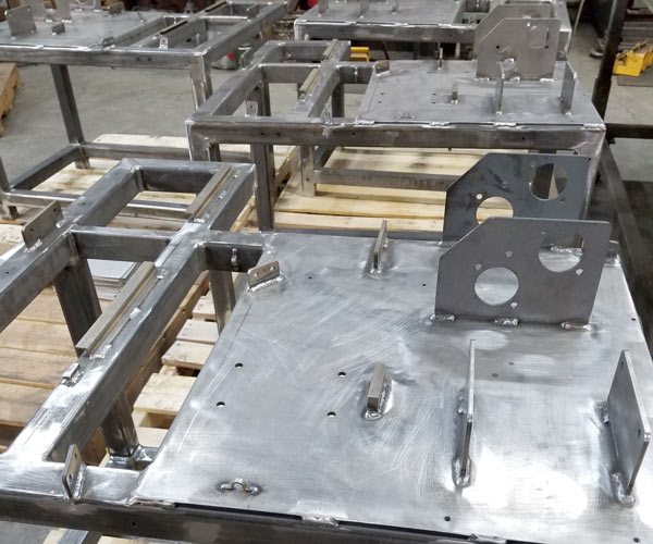 Fabricated metal frames