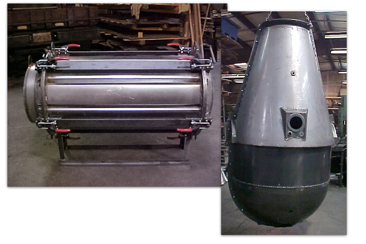 Quick coat drum mold and Tank Mold