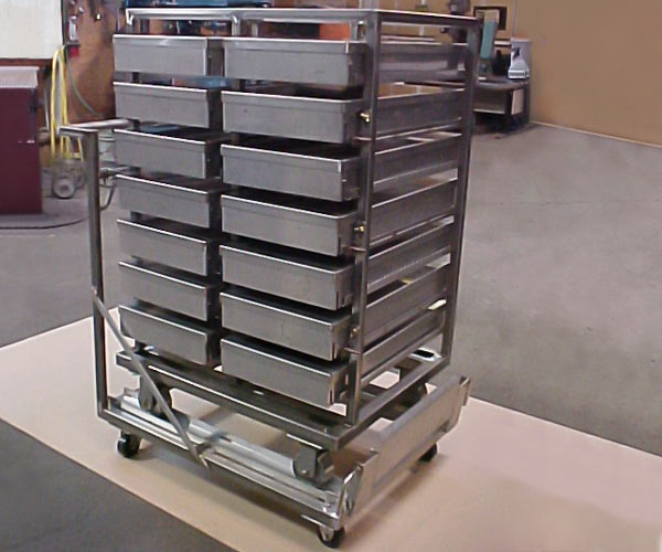Fabricated stainless steel oven transfer fart